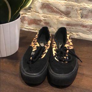 Vans Leopard Low-Tops (never worn!)